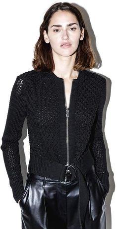 3.1 Phillip Lim Belted crochet jacket