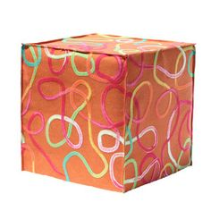 Squiggle Ottoman Sun now featured on Fab.