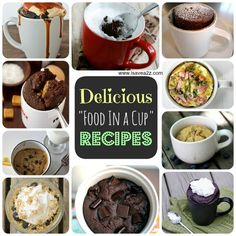 "Here's a round up of the BEST ""In A Mug"" recipes ever!!!  Delicious and fast to make!  Now that's a combo I love!  #Food #Recipes #Delicious"
