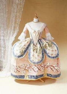 dress by Rose Bertin (also dressed Queen Marie Antoinette)
