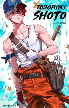 Boku no Hero Academia {My Hero Academia} - Todoroki Shouto Boku No Hero Academia, My Hero Academia Memes, Hero Academia Characters, My Hero Academia Manga, Hot Anime Boy, Cute Anime Guys, Anime Boys, Fanarts Anime, Manga Anime