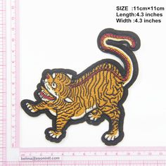 Tiger Patch ,Embroidery Patch, Embroidery Tiger Applique,Cute Tiger Patch ,Tiger Applique for Garment,Patch for Jackets