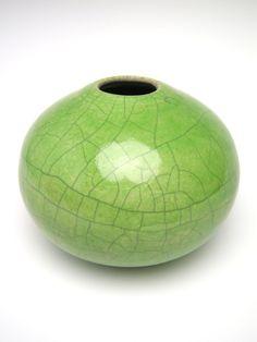 letsgetmuddy, via Etsy. Earthenware, Stoneware, Raku Kiln, Raku Pottery, Modern Ceramics, Modern Contemporary, Whimsical, Clay, Chartreuse