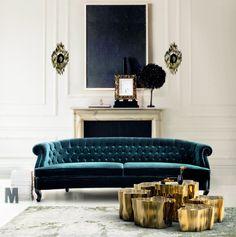 Um clássico-moderno, o dourado volta com tudo para deixar os ambientes mais chiques