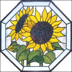 sunflower stained glass - Google Search