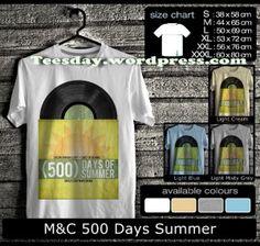 M 500 Days Summer t-shirts