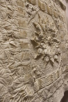 More stunning fabric manipulation.