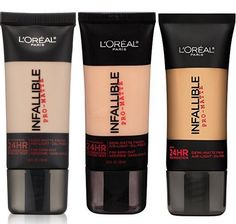 Okay so I just recently switched from Mac Studio Fix Fluid to L'ORÉAL Infallible & it was the best makeup decision I've ever made. This foundation is long lasting, does not create cake face & it has great coverage. I have combination skin, so my t zone is very oily but my cheeks are super dry. This product reacts well with my combination skin. It feels lightweight, hides acne & redness very well and it doesn't crease. I give this product a 10/10 rating.