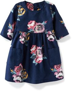 Double-Pocket Twill Dress for Baby