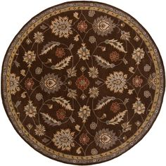 This unique rug is hand-tufted of wool and features a stunning traditional style. Whether you want a splash of color or a subtle accent, this area rug will be the perfect accessory to add that finishing touch to your decor.