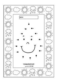 Spájame bodky. Dažďová kvapka. - Aktivity pre deti, pracovné listy, online testy a iné