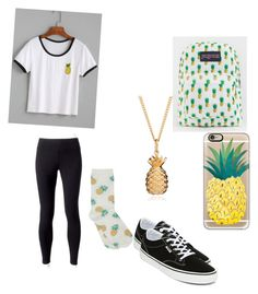 """Untitled #222"" by austynh on Polyvore featuring JanSport, Casetify, Rachel Jackson, M&Co, Jockey and Vans"