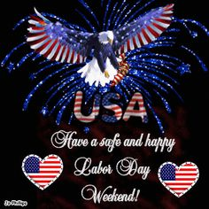 The perfect HappyLaborDayWeekend Eagle Animated GIF for your conversation. Discover and Share the best GIFs on Tenor. Labor Day Quotes, Weekend Quotes, Labor Day Clip Art, Labor Day History, Labor Day Pictures, Labour Day Wishes, 4th Of July Images, Weekend Images, Labor Day Holiday
