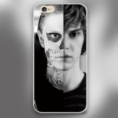 evan peters doule face life Cover case for iphone 4 4s 5 5s 5c 6 6s plus samsung galaxy S3 S4 mini S5 S6 Note 2 3 4
