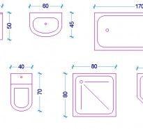 Le misure dell\'uomo nell\'abitazione: Il bagno | Toilet sink, Toilet ...
