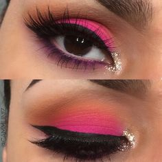Pink and Orange eye look