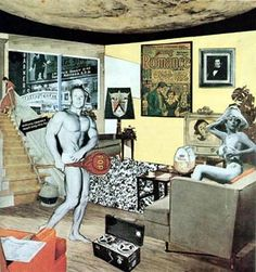 """1956 Richard Hamilton Collage """"Just what is it that makes today's homes so different, so appealing?"""" 1956 is one of the earliest works to be considered """"pop art"""". Pop art is an art movement that emerged in the mid 1950s in Britain and in the late 1950s in the United States. Livingstone, M., Pop Art: A Continuing History, New York: Harry N. Abrams, Inc., 1990"""
