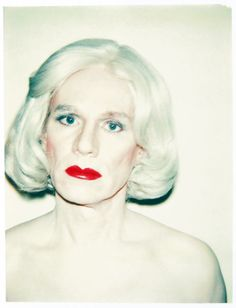 Available for sale from Huxley-Parlour, Andy Warhol, Self-Portrait in Drag Unique colour Polaroid print, 3 × 3 in Terry Richardson, Andy Warhol Pop Art, Photo Portrait, Portraits, Famous Faces, American Artists, Pop Culture, Serum, Photoshoot