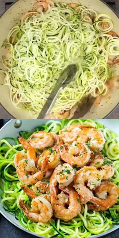 This Keto Shrimp Scampi Zoodles Recipe is a quick, easy, low carb, tasty meal that's lightened up with a delicious lemon butter sauce. This Scampi recipe pairs well with zucchini noodles to make the perfect keto-friendly meal the whole family can enjoy.
