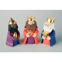 Claydough Three Kings Christmas Cake Decoration