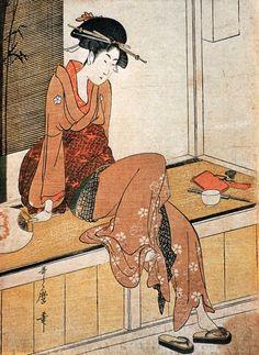 Kitagawa Utamaro (c.1753 -1806) Girl Seated