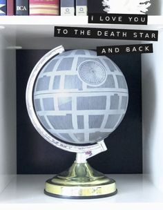 DIY Globe to Death Star Tutorial from Hydrangea Girl. Because nothing says love and romance like the the Star Wars' DIYs I've posted. For lots more Star Wars DIYs go here and for Death Star DIYs including a roundup go here.