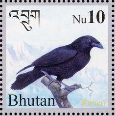 Birds on stamps: Bhutan Bhoutan Bután