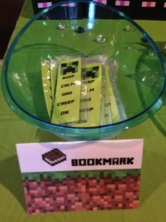 Minecraft Party Creeper Keep Calm and Creep On Bookmarks Birthday Party Favor on Etsy, $9.00