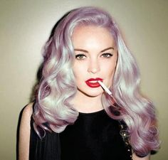 #purple #retro #rolls #hairextensions #hair #unusual #original #striking #hairstyles #haircolors #pastels #hairdo #extensions #curls #ombre