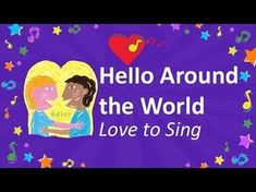 Hello Around the World Song Sing hello in different languages from around the world. Great for at home, the classroom or group activities with kids! Around The World Theme, Holidays Around The World, Around The Worlds, Children Dance Songs, Kids Songs, The World Song, World Music, Hello Song For Kids