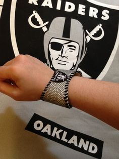 Raiders Football Sports Cuff by Lisa Kettell, Sports Cuff World c.2005-2013, made with genuine game played footballs!
