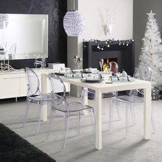 white christmas decor dining room table setting