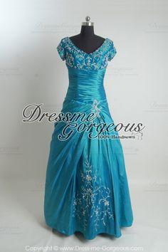 [$189.99]Delicate Taffeta Modest Prom Dress (PR1136129)