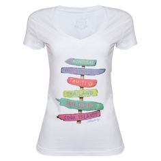Foto e-commerce para Aleatory - Camiseta Feminina Flamê Gola V Verse