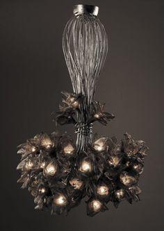 Handmade 35 Net Metal flowers Ceiling Light Chandelier. by FMFOS