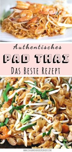 Easy Chinese Recipes, Easy Dinner Recipes, Asian Recipes, Mexican Food Recipes, Healthy Recipes, Healthy Food, Noodles Pad Thai, Thai Cooking, Cooking Recipes