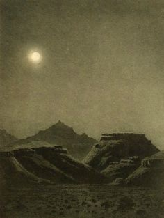 George Elbert Burr, Desert night (Late 19th - early 20th century), etching