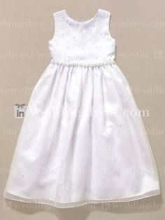 Simple Flower Girl Dresses with Scattered Pearls Fl049 only $149.99 isweddingdress.com