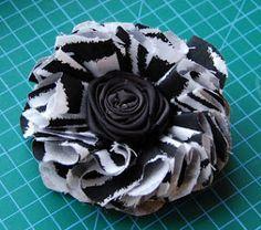 folded fabric flower tutorial