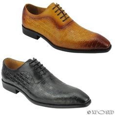New Mens Black Tan Yellow Real Leather Italian Style Lace up Shoes 6 7 8 9 10 11