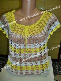 εϊз Art n Crochet εϊз: Blusa Si Rezende