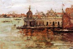 Venice - View of the Navy Arsenal - William Merritt Chase
