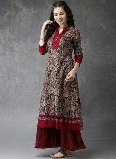 My Lifestyle Shop: The Latest Designing Kurtis. Kurta Designs Women, Kurti Neck Designs, Dress Neck Designs, Salwar Designs, Kurti Designs Party Wear, Designs For Dresses, Blouse Designs, Pakistani Fashion Casual, Pakistani Outfits
