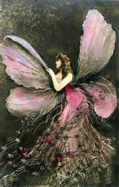 Hada de Luna - the Spanish moon fairy . Spanish fairy stories say if the moon fairies enter the sunlight , they become butterflies or birds .