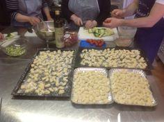 Making gnocchi, Cooking Class/griturismo CaseGraziani, Umbria, Italy
