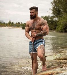 Touch my Beard is part of Muscle men - I lost my teddy bear will you sleep with me Hairy Men, Bearded Men, Bearded Tattooed Men, Scruffy Men, Men Handsome, Bald Men, Hot Men, Hot Guys, Inked Men