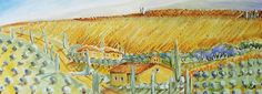 """""""Umbrische Landschaft"""" gemalt von EMO   SCHUSCHNIG"""