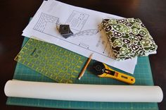 Tracing Patterns  and Cutting Fabric with a rotary cutter