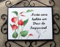 Placa Deus do Impossível