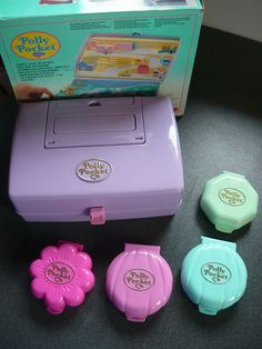 80S VINTAGE POLLY POCKET HOUSES & BEAUTY CASE by my sweet 80s, via Flickr